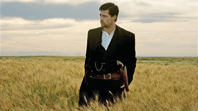 Brad Pitt stars as Jesse James in Warner Bros. Pictures? ?The Assassination of Jesse James by the Coward Robert Ford.?