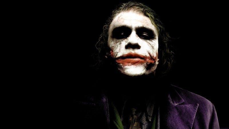 Heath Ledger i rollen som Jokern i The Dark Knight