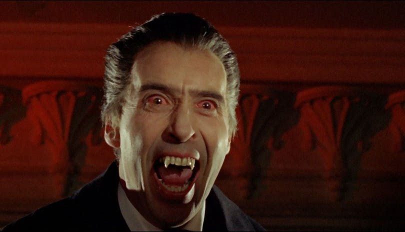 Christopher Lee som Greve Dracula. Foto: Hammer Film Productions.