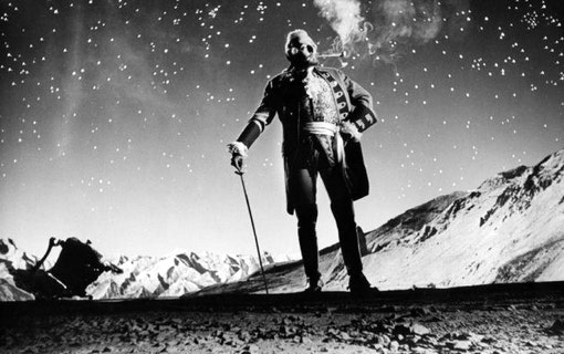 Stillbild ur The Outrageous Baron Münchausen (1962).