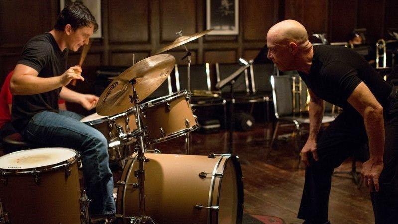 Miles Teller och J.K. Simmons i Whiplash.