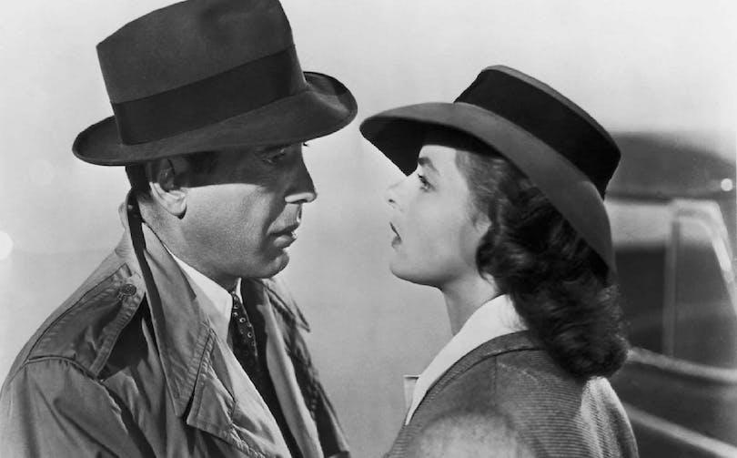 Humphrey Bogart och Ingrid Bergman i Casablanca