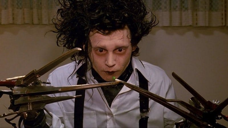 Johnny Depp som Edward Scissorhands