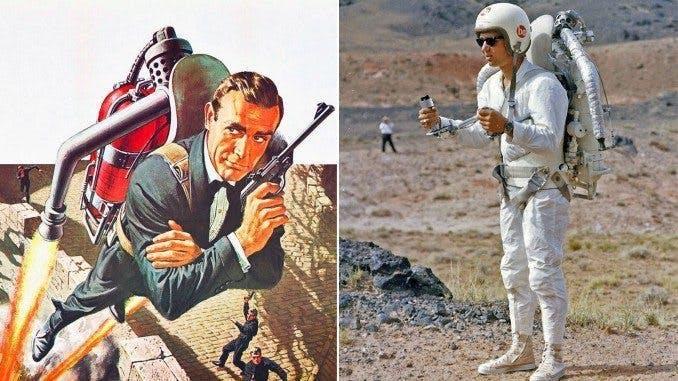Två bilder på häftiga Bondprylar.