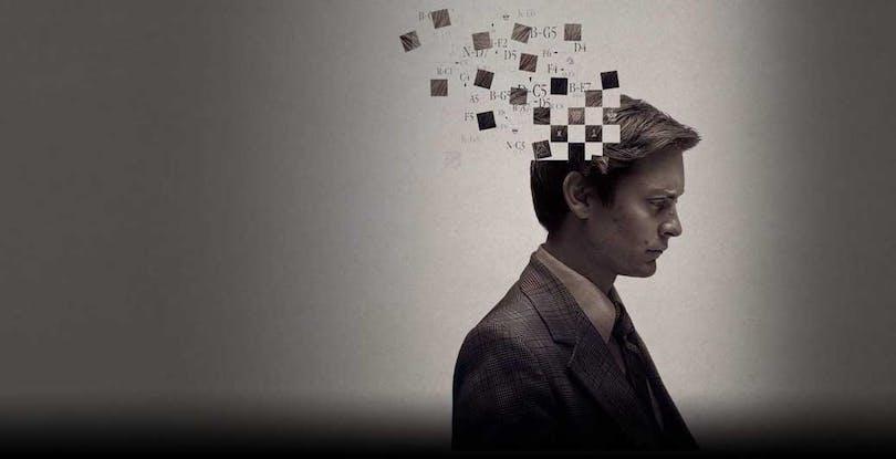 Tobey Maguire som Bobby Fischer på postern till Pawn Sacrifice