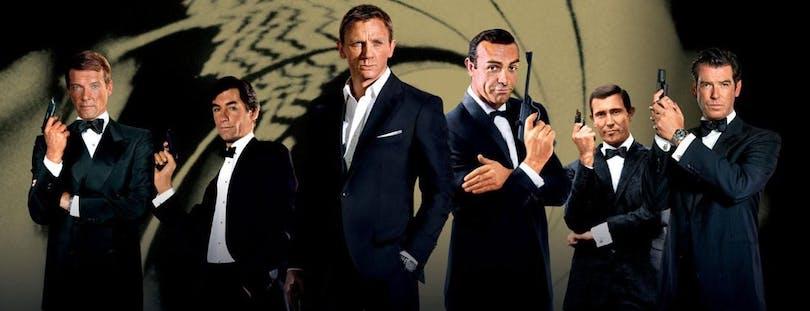 Alla skådespelare som har spelat James Bond.