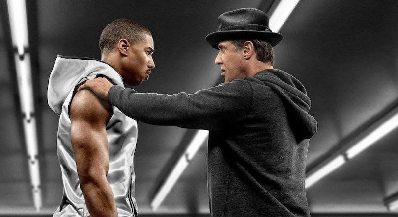 Foto på Michael B. Jordan och Sylvester Stallone i Creed (2015).