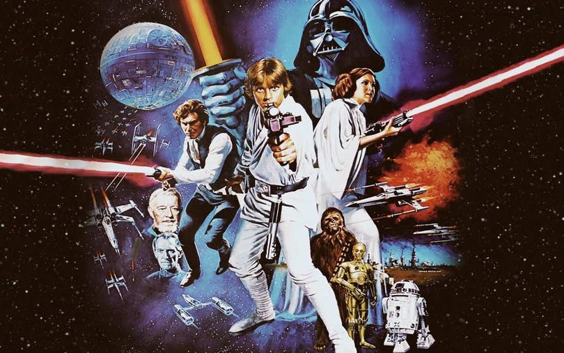 "Poster till ""Star Wars A New Hope"""