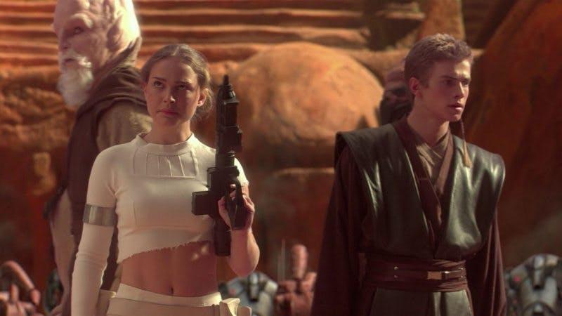 """Padme och Annakin i """"Star Wars Episode II"""""""