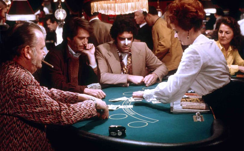 California Split (1974) Directed by Robert Altman Shown second from left: George Segal (as Bill Denny), Elliott Gould (as Charlie Waters)