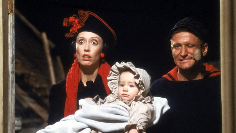 Shelley Duvall och Robin Williams i Popeye.