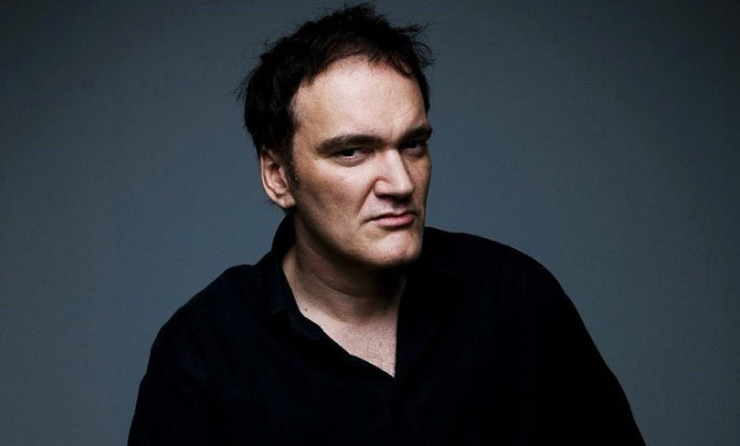 Porträtt av Quentin Tarantino
