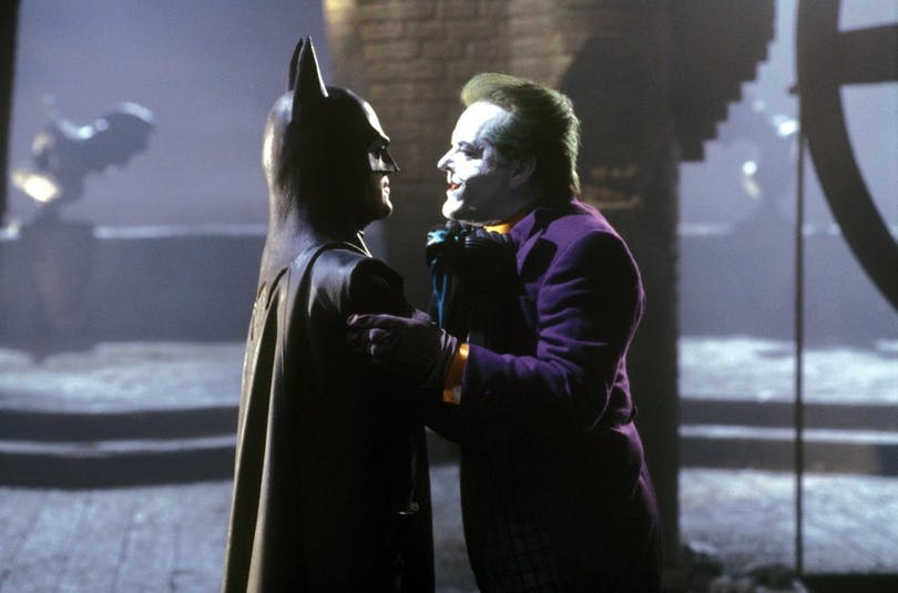 Bild på Michael Keaton och Jack Nicholson i Batman.