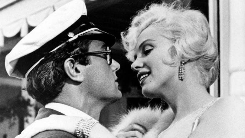 Tony Curtis och Marilyn Monroe i filmen I hetaste laget.