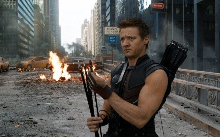 Jeremy Renner som Hawkeye.