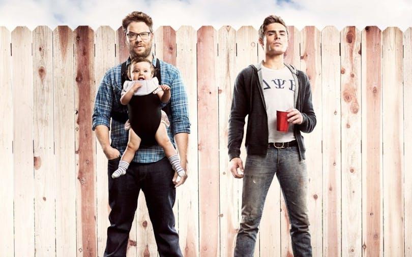 """Set Rogen och Zack Efron i """"Bad Neighbours 2"""" – en skön komedifilm."""