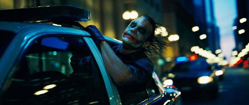 """Heath Ledger som Jokern i """"The Dark Knight"""""""