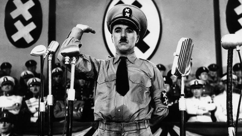 "Charlie Chaplin i ""The Great Dictator"""