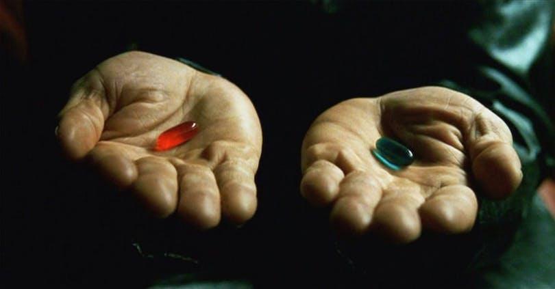 Det röda och det blåa pillret