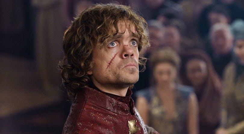 Peter Dinklage som Tyrion Lannister i Game of Thrones.