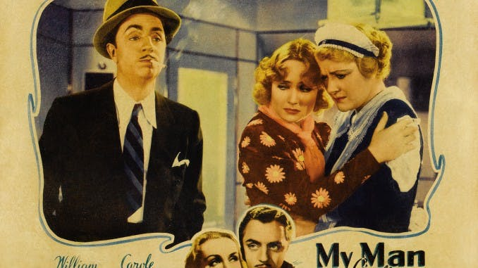 "Poster till ""My Man Godfrey"" en tidig Screwball."