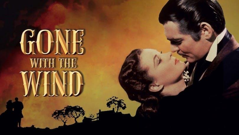 """Poster till """"Borta med vinden"""" en av filmerna som ledde till färgfilmens genombrott."""