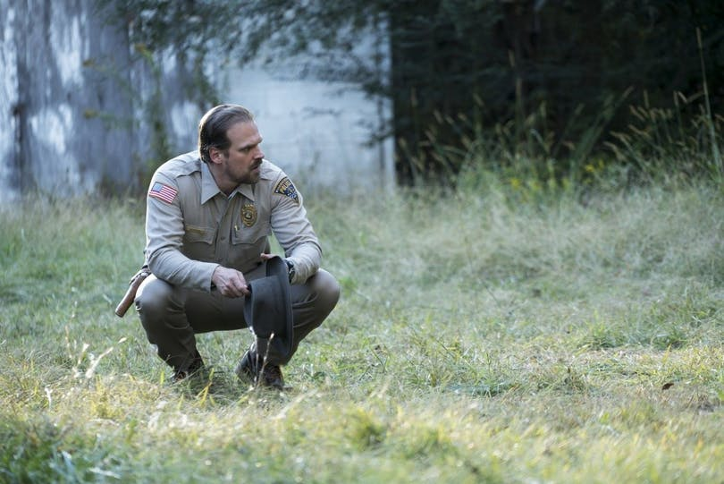 David Harbour as Chief Jim Hopper in Stranger Things. Photo: Netflix