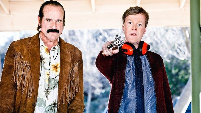 Peter Stormare och Johan Glans i Swedish Dicks. Foto: Viaplay