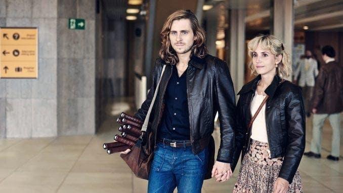 Sverrir Gudnason och Tuva Novotny i rollerna som Björn Borg och Mariana Simionescu