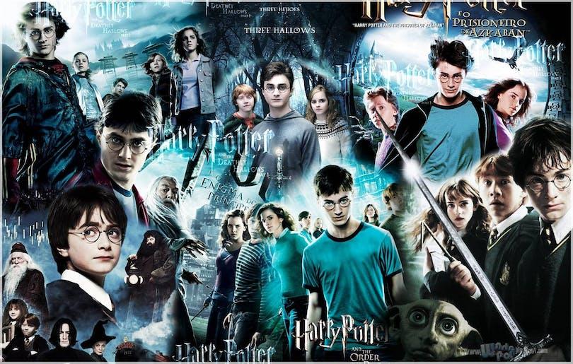 Bilder från Harry Potter-filmerna.
