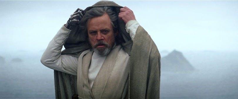 Mark Hamill som Luke Skywalker i Star Wars THe Force Awakens