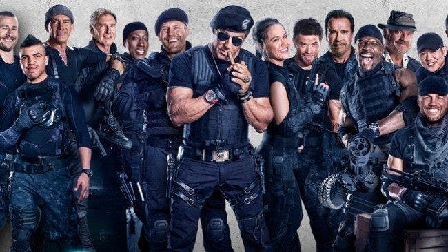 Gänget i The Expendables.