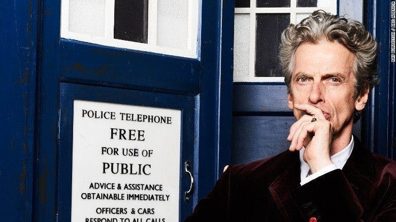 Peter Capaldi som doktorn i Doctor Who.