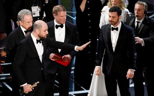 Fortfarande oklart varför fel film utnämndes under Oscarsgalan