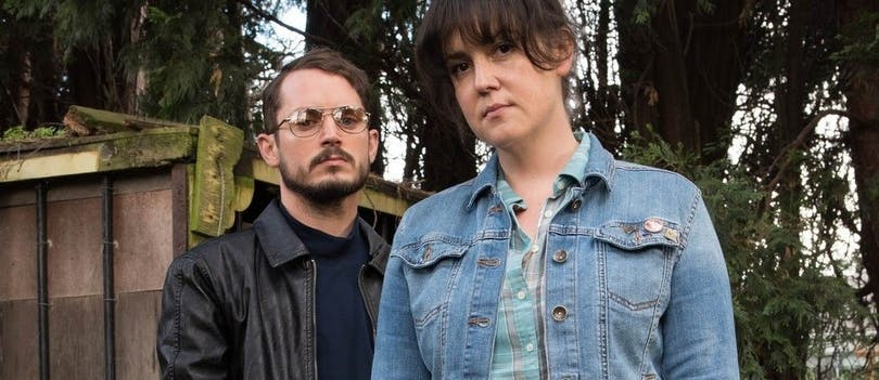 Elijah Wood och Melanie Lynskey i I dont feel at home in this world anymore