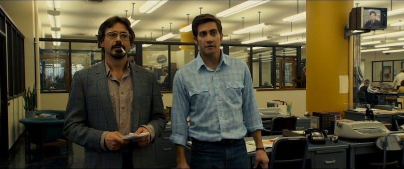 Jake Gyllenhaal och Robert Downey Jr. i Zodiac