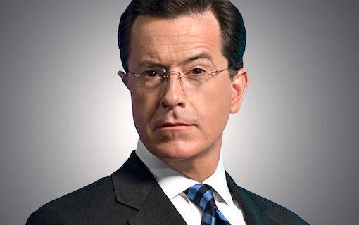 Programledaren Stephen Colbert i blåsväder