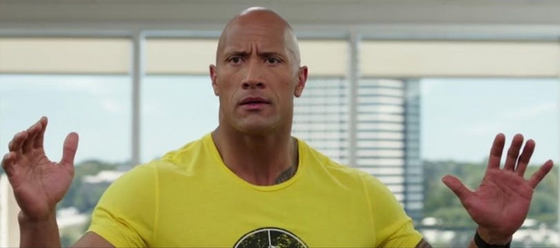 Stillbild på Dwayne Johnson från Central Intelligence.