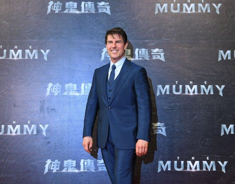 Tom Cruise på röda mattan inför premiären av The Mummy.