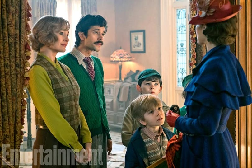 Bilder från filmen Mary Poppins Returns.