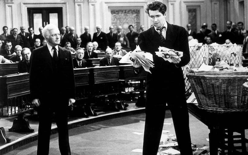 "James Stewart i ""Mr. Smith i Washington"""