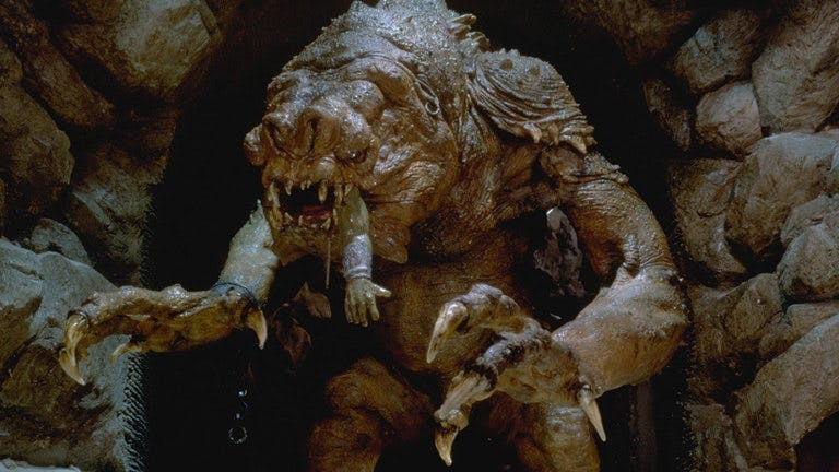"Monstret Rancor i ""Jedins återkomst"""