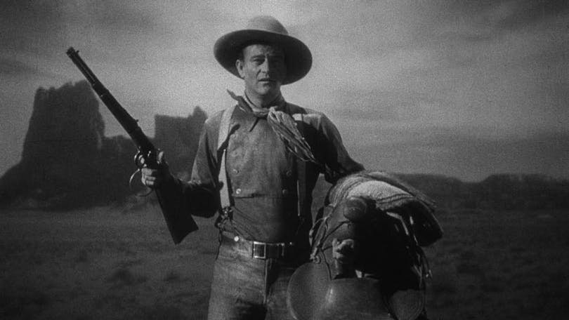 """John Wayne på häst i """"Diligensen"""""""