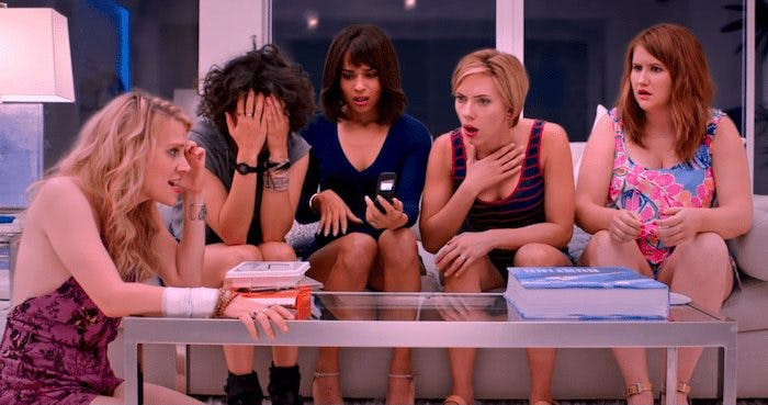 Kate McKinnon, Ilana Glazer, Zoe Kravitz, Scarlett Johansson och Jillian Bell
