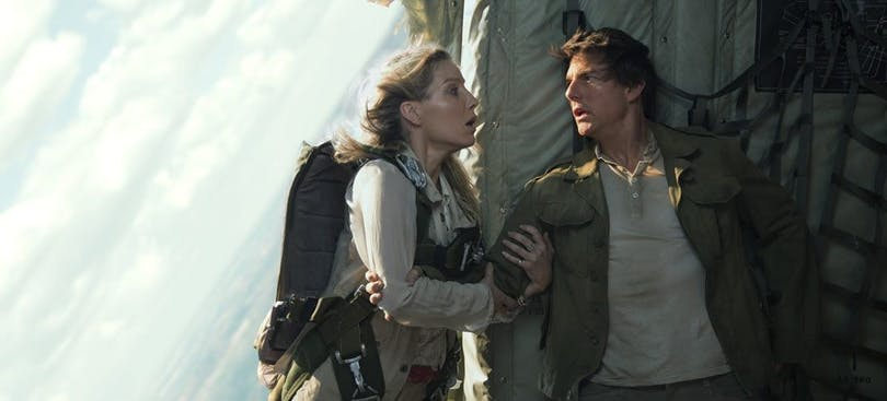 Tom Cruise och Annabelle Wallis i The Mummy