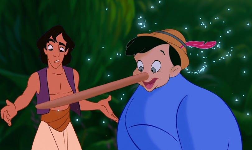 Aladdin och Anden-Pinoccio i en av de bästa Disneyfilmerna