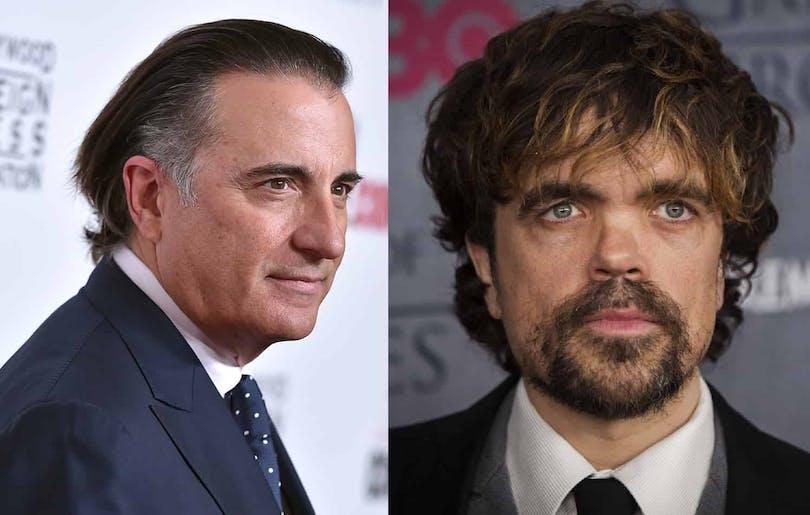 """Andy Garcia och Peter Dinklage. De båda skådespelarna ska vara med i den nya filmen """"My Dinner With Hervé"""""""