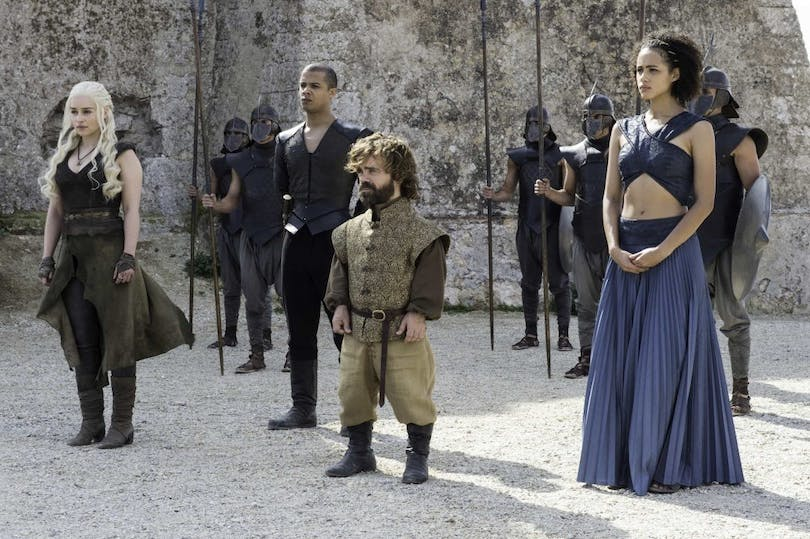 Peter Dinklage, Jacob Anderson m fl. i Game of Thrones