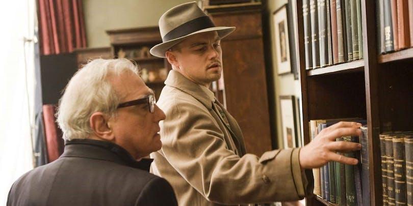 """Martin Scorsese och Leonardo DiCaprio under inspelningen av """"Shutter Island"""""""