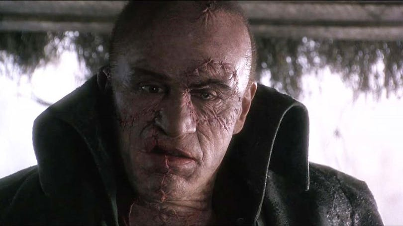 Ur Mary Shelley's Frankenstein. Robert De Niro gestaltar monstret.